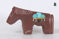 Authentic Native American Indian pipestone horse fetish totem by Zuni Emery Boone