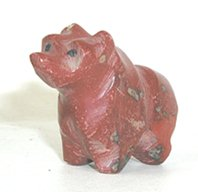 vintage pipestone bear fetish carving
