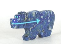 Authentic Native American Bear Fetish of lapis lazuli by Zuni Bernard Laiwakete