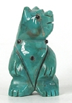 Authentic Native American Turquoise Bear Fetish carving by Zuni Joanne Cheama