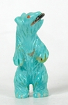 Turquoise Bear with fish fetish carving