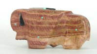 Authentic Native American Buffalo Fetish Carving by Zuni artist Robert Cellicion