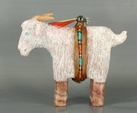 Authentic Native American Navajo Angora Goat Fetish Carving by Harold Davidson