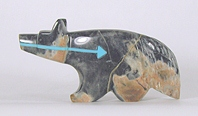 Authentic Native American wolf Fetish Carving from Picasso marble by Zuni Rodney Laiwakete