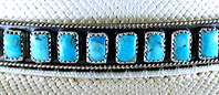 Authentic Native American Sterling Silver and Turquoise Hat Band by Navajo James Freeland