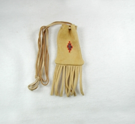 Native American Indian Buckskin Medicine Bag