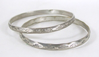 Two Mexican Stamped Bangle Bracelets
