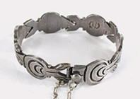 Mexican Stamped Sterling Silver Link bracelet size 6 1/2