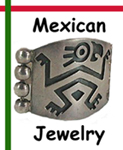 Mexican jewelry contemporary and vintage sterling silver and stone