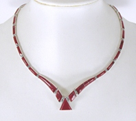 Mexican 950 silver Red Jasper necklace