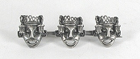 Vintage Mexican sterling silver three masks pin