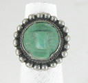 vintage green onyx mask ring  size 7