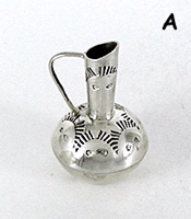 Authentic Native Amrerican Handmade Sterling Silver  Miniature Pitcher by Navajo Elizabeth Whitman