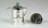 Hand made Native American Indian Jewelry; Navajo Sterling Silver miniature kettle