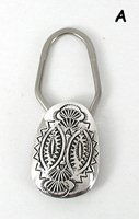 Stamped Sterling Silver Key Ring