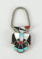 Inlay Thunderbird Key Ring