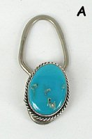 Sterling Silver and Turquoise Key Ring