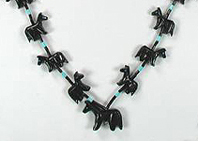 Authentic Navajo Horse Fetish Necklace by Hector Goodluck