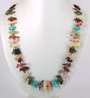 Authentic Native American Fetish Animal Necklace by Navajo Neil Thomas