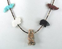 Authentic Native American Navajo animal Fetish Necklace by Corrine Ramirez