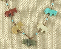 Authentic Navajo Horse Fetish Necklace
