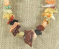 Authentic Native American Navajo animal fetish necklace by Navajo artist Neil Thomas
