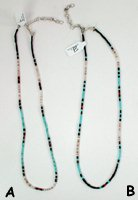 Mixed Stone heishi necklace 16 to 18 inch