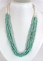 Santo Domingo 10 strand turquoise heishi Necklace by Josephine Coriz