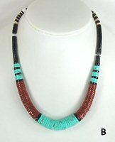 Mixed Stone heishi necklace 19 1/2 inch