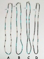 Mixed Stone heishi necklace 22  inch