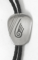 Vintage isterling silver badger paw bolo tie
