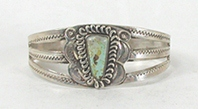 Vintage Fred Harvey era Sterling Silver Turquoise Pretty Girl Bracelet 6 1/8  inch