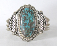 Sterling Silver and  Persian Turquoise Bracelet 6 1/4 inch