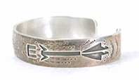 Authentic Native American Sterling Silver Overlay Yei Bracelet 6 1/2 inch by Navajo silversmith Manuel Begay