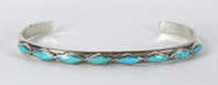 Sterling Silver Turquoise Bracelet 6 inch