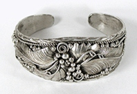 Authentic Native American Sterling Silver Bracelet by Navajo artist Yazzie Johnson