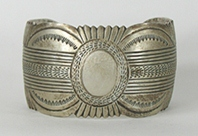 Authentic Native American Sterling Silver Bracelet by Navajo artist Carson Blackgoat