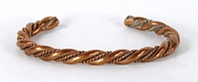 Solid Copper Twist Bracelet 6 1/2 inches