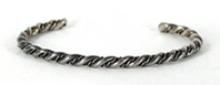 Solid Sterling Silver Twist Bracelet 5 3/4 inches