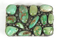 Authentic Vintage Pete Sierra Turquoise Cornrow Belt Buckle