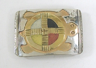 Authentic Native American four colors turtlef buckle by Lakota Visions Jewelry
