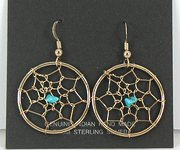Authentic vintage Native American NOS dreamcatcher Navajo earrings