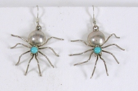 sterling silver Turquoise Spider Wire earrings