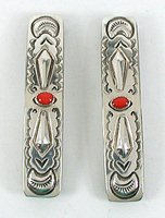 Vintage sterling silver repousse barrettes New Old Stock