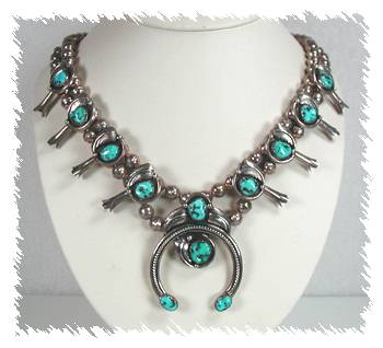 Native American Pawn Navajo Sterling Silver And Turquoise