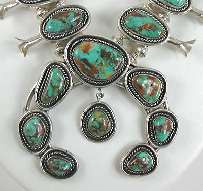 Authentic Vintage Navajo Sterling Silver And Royston