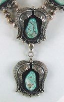 Vintage sterling silver Seafoam Turquoise necklace 19 1/2 inches