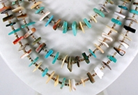vvintage sterling silver and turquoise Nugget two strand necklace 28 inch
