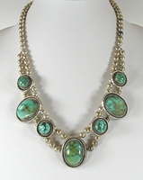 vintage turquoise necklace 22 inch