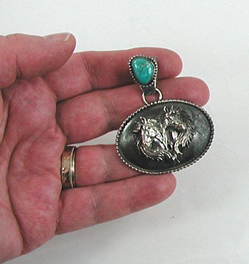 Native american navajo sterling silver turquoise horse for Mural jewellery